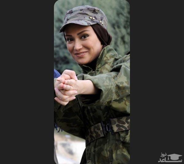 لباس ارتشی جذاب بهاره افشاری