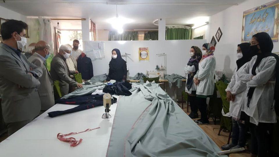 اشتغال 30 نفر از بانوان نیشابور و فیروزه با حمایت فولاد خراسان