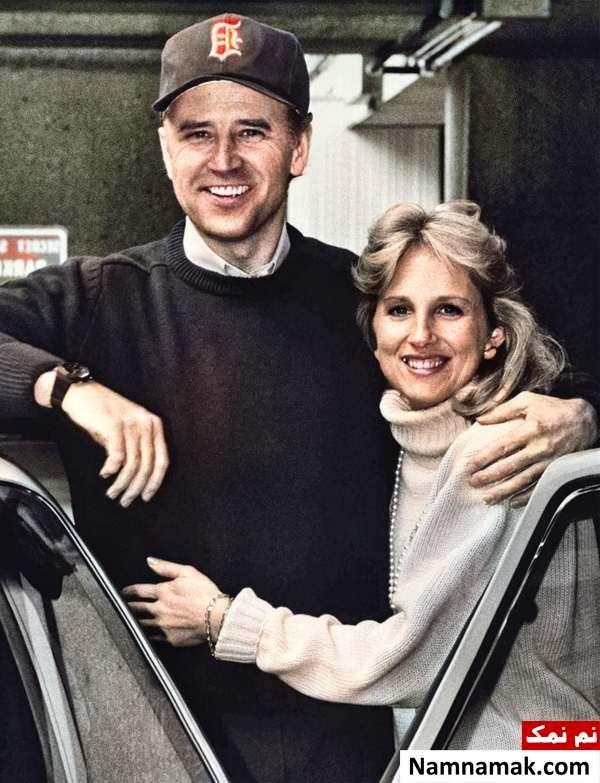 عکس قدیمی جو بایدن و همسرش جیل تریسی بایدن