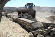 ۲۰ هزار مترمربع از اراضی ملی قشم رفع تصرف شد