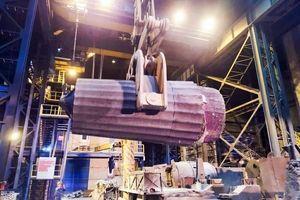 تولید شمش فوق سنگین 110 تن فولادی در مجتمع صنعتی اسفراین