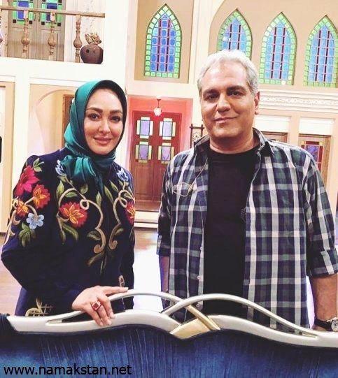 مهران مدیری و الهام حمیدی در برنامه دورهمی