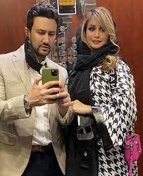 سلفی شاهرخ استخری و همسرش لب ساحل + عکس