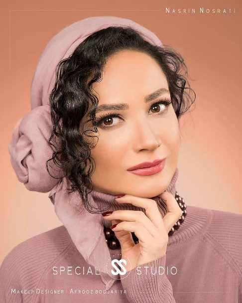چهره نسرین نصرتی به عنوان مدل آرایشی