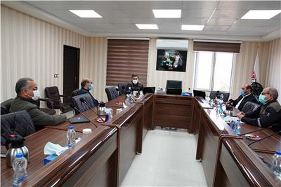 برگزاری جلسه ریاست شبکه بهداشت و درمان شهرستان خواف با مشاور مدیر مجتمع سنگان