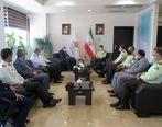 دیدار سردار ملکی فرمانده انتظامی گیلان با مدیرعامل سازمان منطقه آزاد انزلی