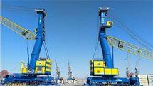 ورود دو دستگاه جرثقیل 140 تنی به چرخه عملیات تخلیه و بارگیری بندر چابهار