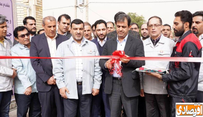 افتتاح طرح های عمرانی و اشتغالی زایی شرکت فولاد خوزستان