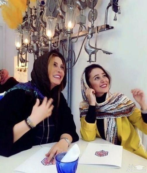 فریبا نادری در کافه با دوست بازیگرش + عکس
