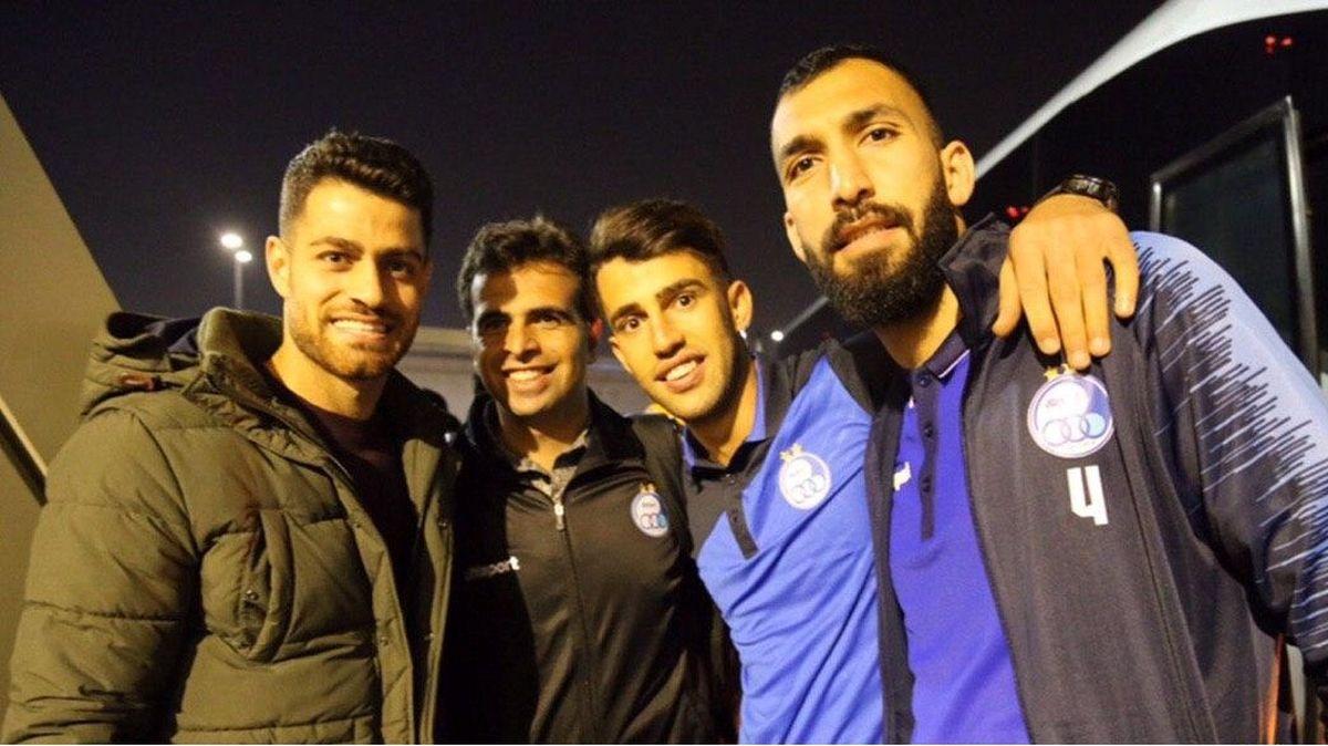 حضور جالب ستاره تیم ملی در اردو استقلال + عکس