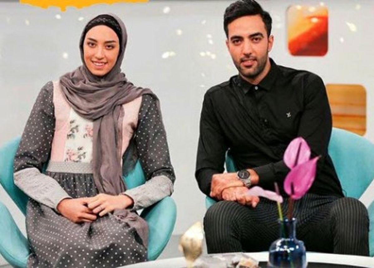 حجاب نامناسب قهرمان تکواندوی ایرانی و همسرش در باشگاه+عکس