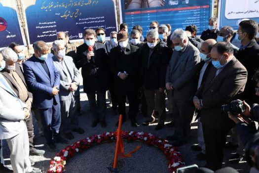 کلنگ زنی چندطرح مسی با حضور وزیر صمت در شهربابک