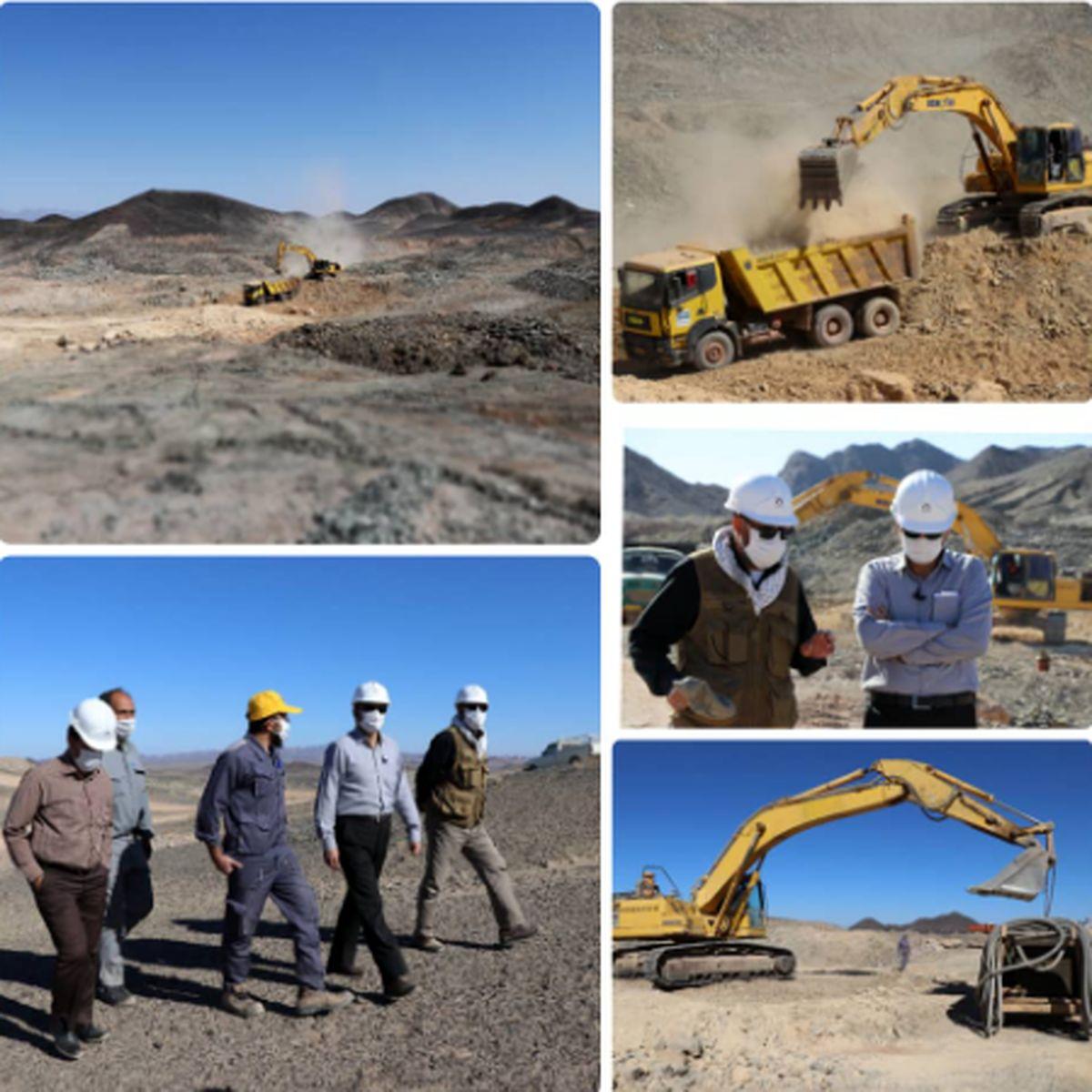 جهش تولید در خراسان جنوبی؛ بهره برداری از معدن سنگ آهن حنار