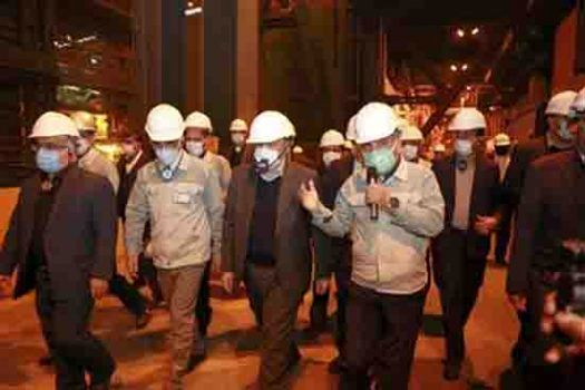 وزیر صمت دستور اجرای پروژه نورد گرم ۲ فولاد مبارکه را صادر کرد