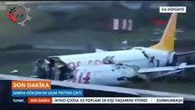هواپیمای ترکیه ای از وسط نصف شد + فیلم