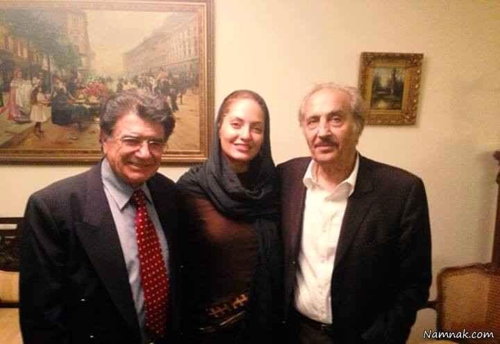 مهناز افشار در کنار محمدرضا شجریان و محمدعلی سپانلو