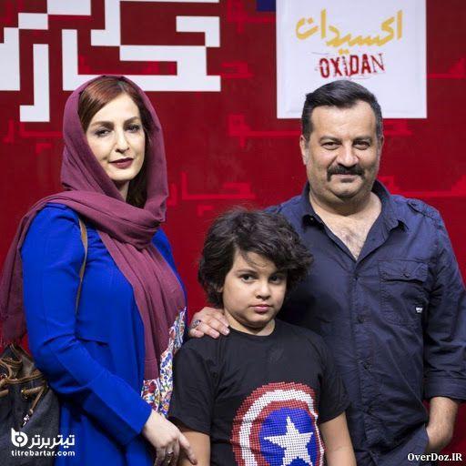 مهراب قاسم خانی و شایق دهقان در کنار پسرشان نویان