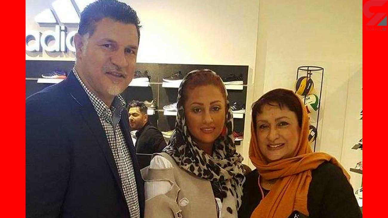 عکس لورفته از مادرزن علی دایی و همسرش