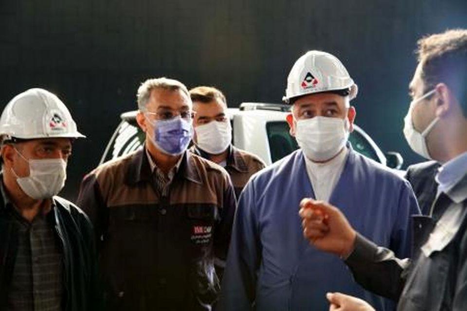 گزارش تصویری بازدید رئیس منطقه 2 و بازرس کل استان خراسان رضوی از مجتمع سنگ آهن سنگان