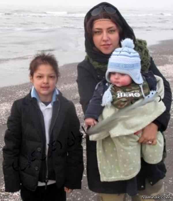 عکس همسر و فرزندان شهاب حسینی